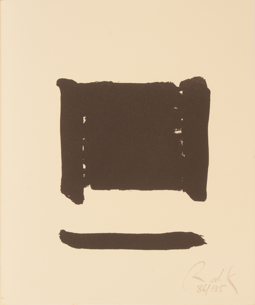 Raoul De Keyser — The other print with the monogram signature and justification in pencil