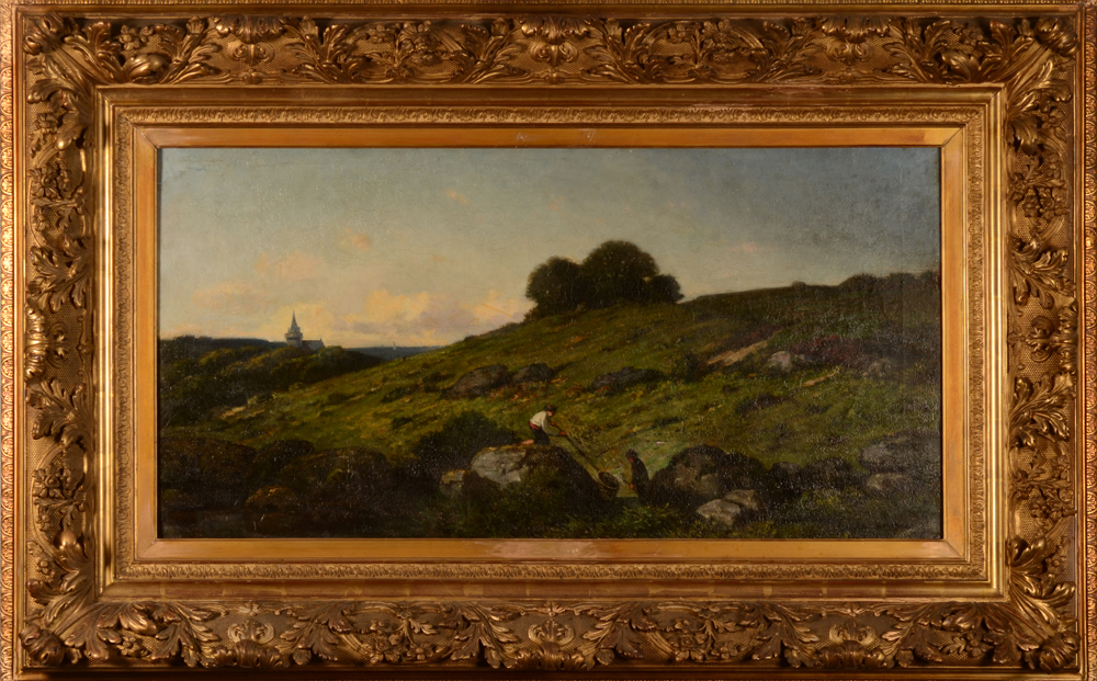 Hubert de Lyoncourt — The painting in its very large turn of the century frame