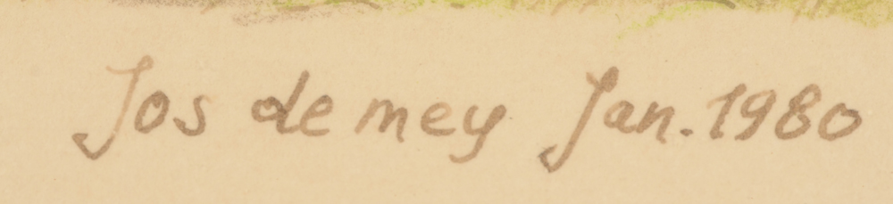 Jos De Mey — Signature of the artist and date 1980