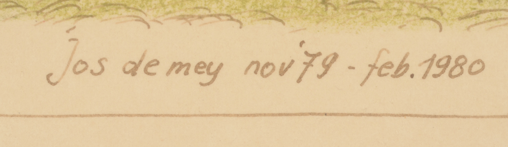 ?Jos De Mey — Signature of the artist and date, bottom right