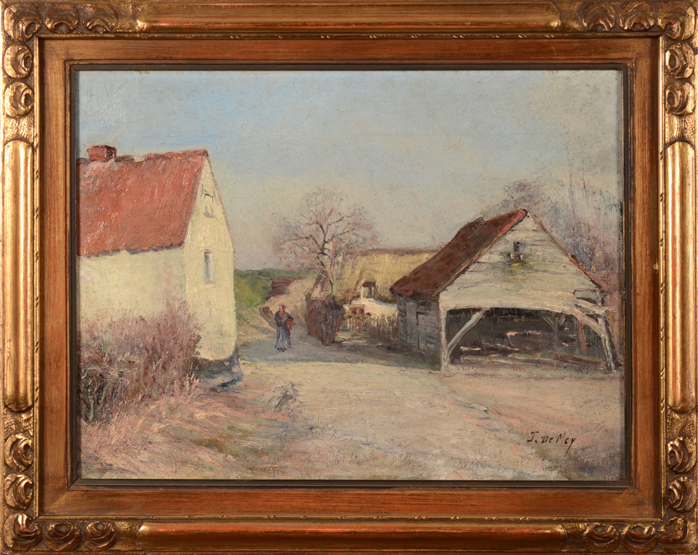 Jos De Mey — The painting in its frame