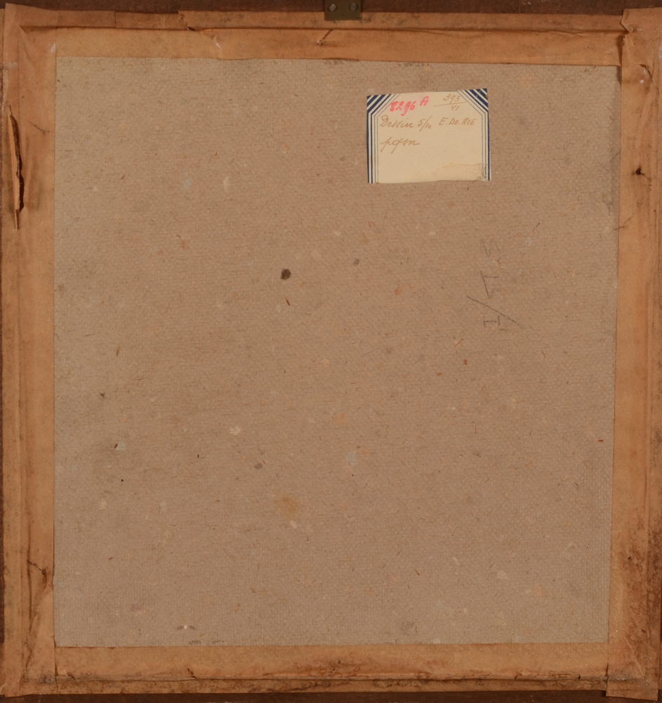 Emile De Rie — Back of the work, with the original label