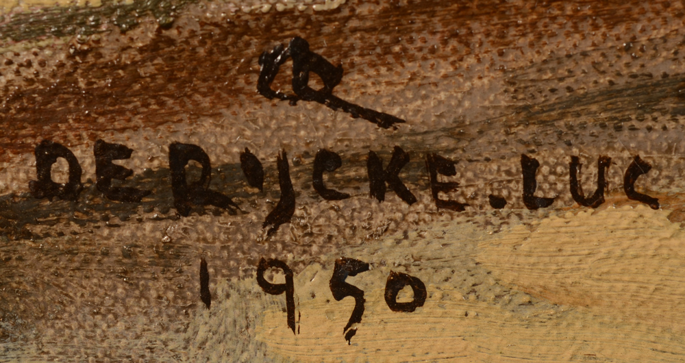 Luc De Rijcke — Signature and monogram of the artist and date, bottom left<br>
