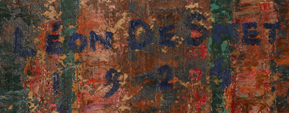 Leon De Smet — Signature of the artist and date, top left<br>