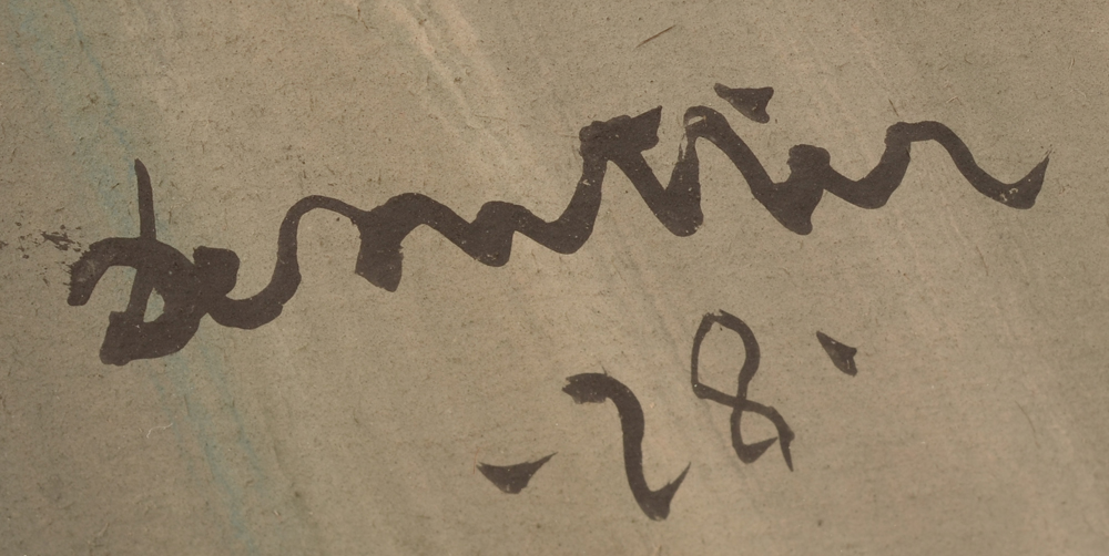 Jules De Sutter — Signature of the artist and date 1928