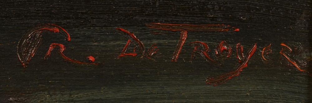 Prosper De Troyer — Signature of the artist, bottom right