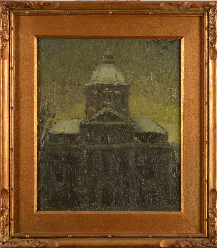 Jo. N. De Vuyst — the painting in its original frame