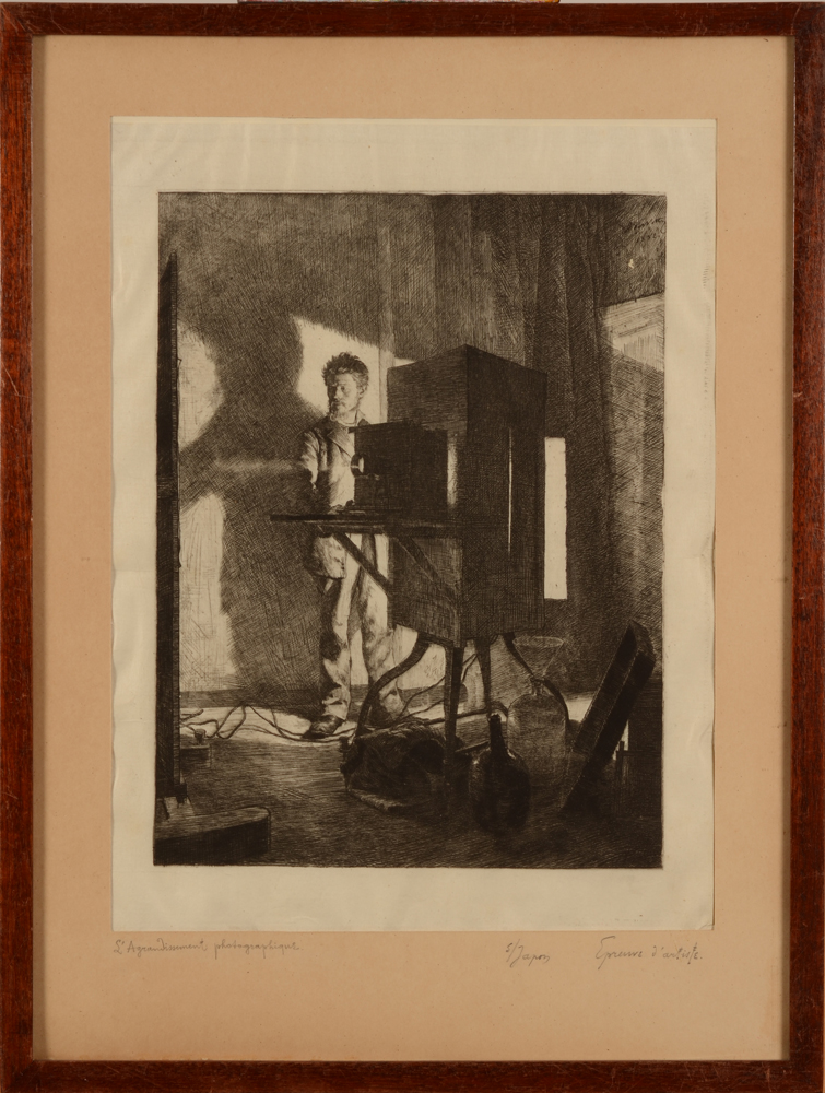 Adrien De Witte  — the etching in its very basic frame