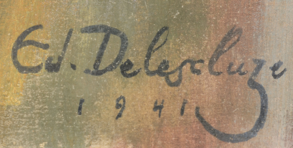 Edmond Delescluze — Signature of the artist and date, 1941