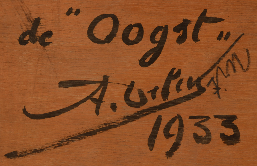 Arthur Deleu — <p>Signature, date and title in Dutch on the back</p>