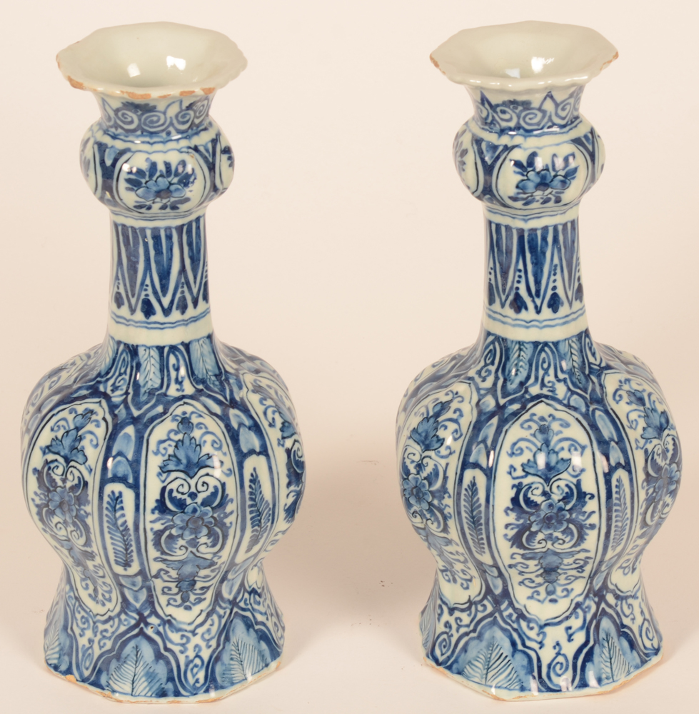 Delftware — <p>Alternate view of the pair</p>