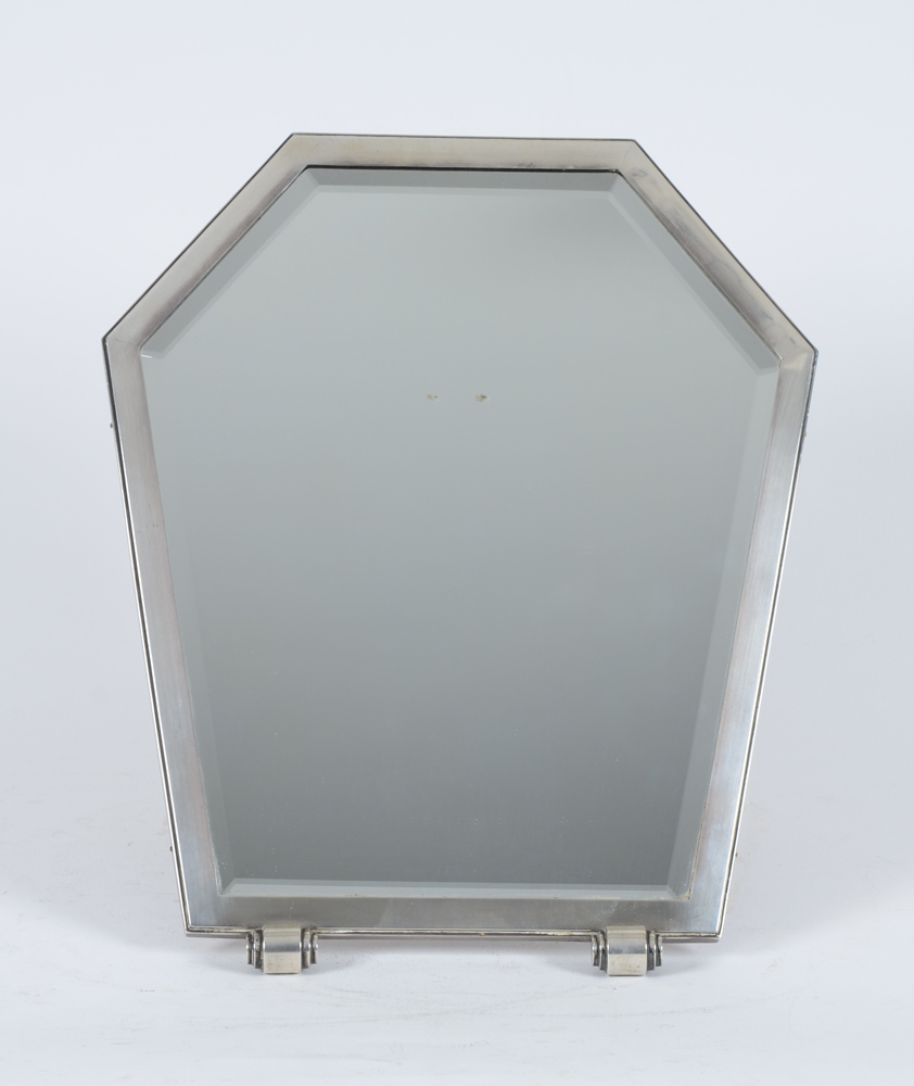 Delheid Freres — A rare silver art deco mirror from the 1930's.