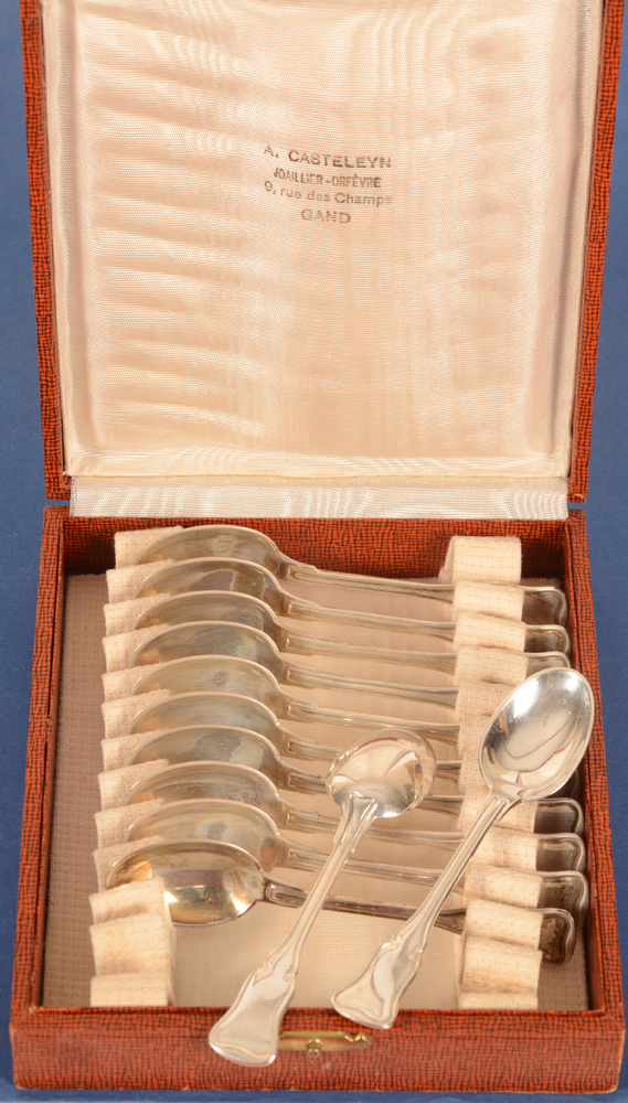 Delheid Frères — the 12 silver spoons in their original box