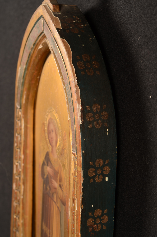 Diomede Della Bruna — View from the side of the decorated frames