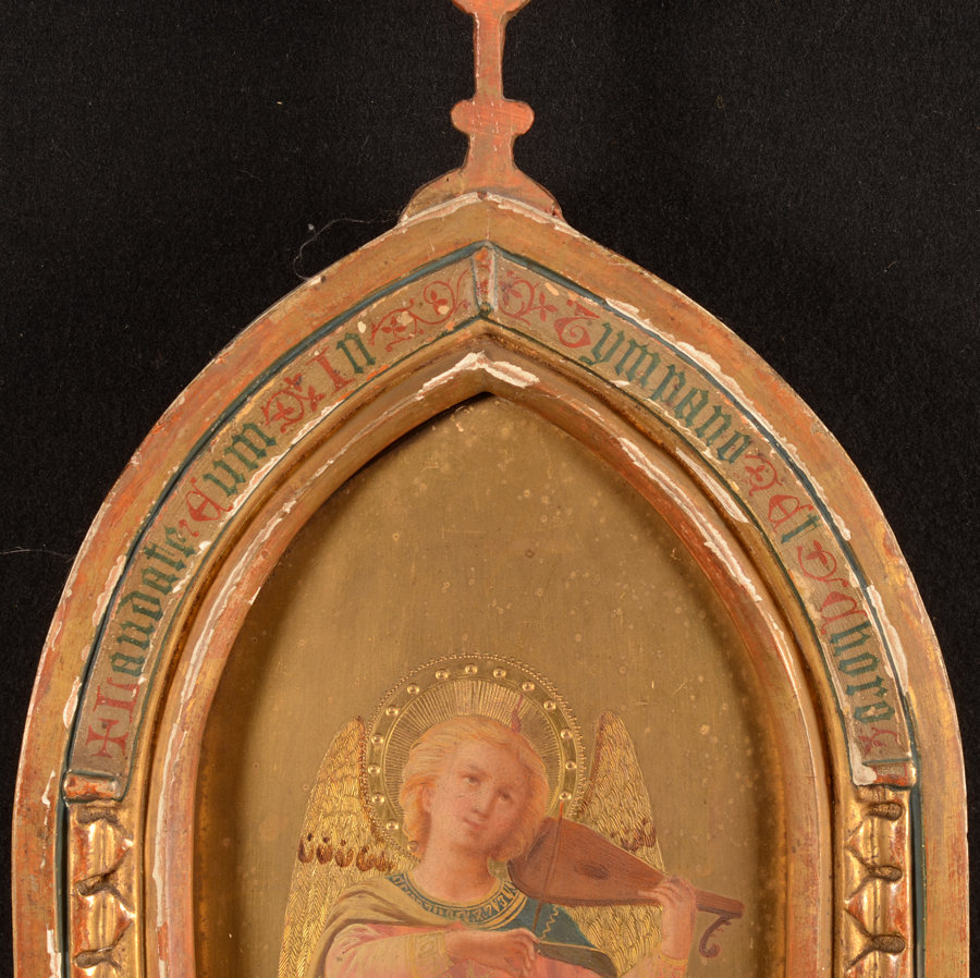 Diomede Della Bruna — Top of the painting with its original decorated frame