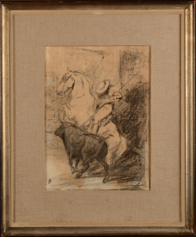Jean Delvin — the drawing in its frame