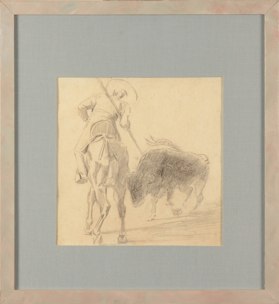 Jean Delvin — The drawing in its modern frame