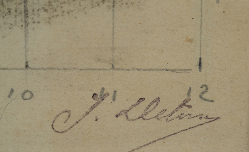 Jean Delvin — Signature of the artist, stamped, as all the important works sold from the artists estate.