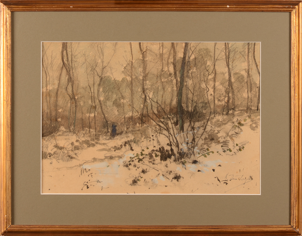 Gustave Den Duyts — The watercolour with its frame
