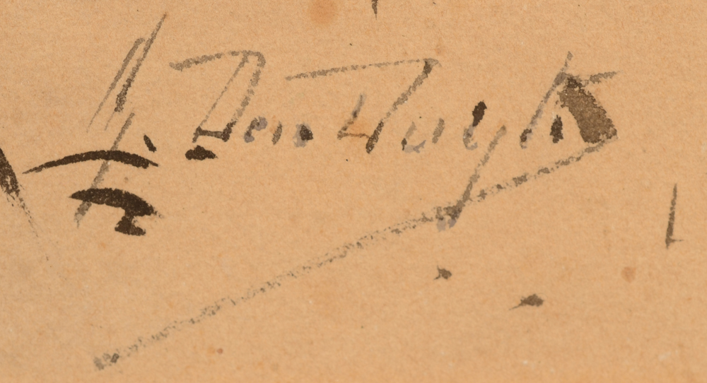 Gustave Den Duyts — Signature of the artist bottom right