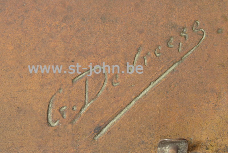 Godefroid Devreese, signature bottom right of the plaque.