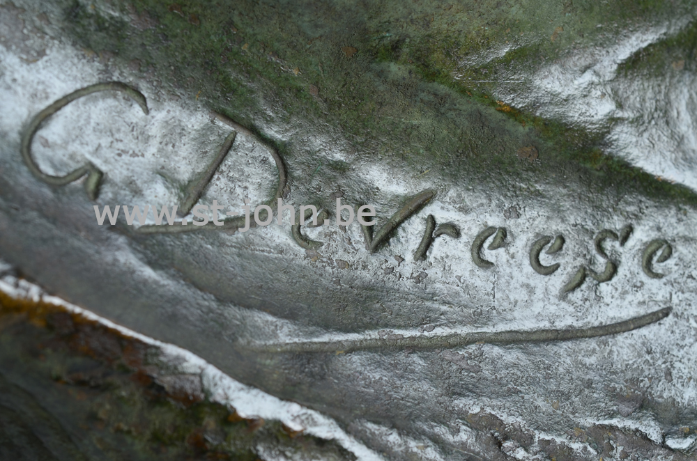 Godefroid Devreese, signature on the base of the sculpture.