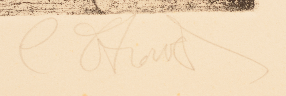 Camille D'Havé — Signature of the artist in pencil bottom right