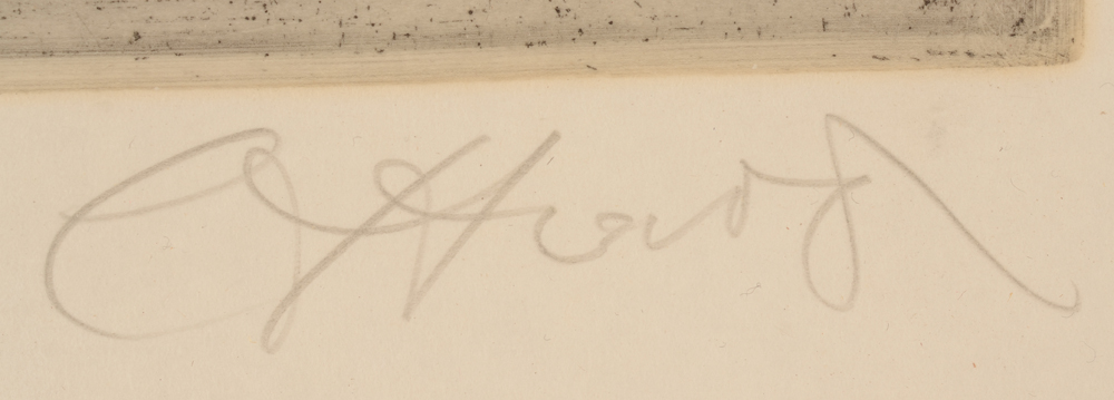 Camille D'Have — Signature of the artist in pencil bottom right