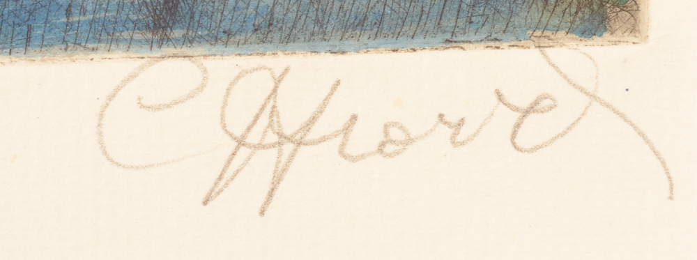 Camille D'Havé — Signature of the artist in pencil, bottom right