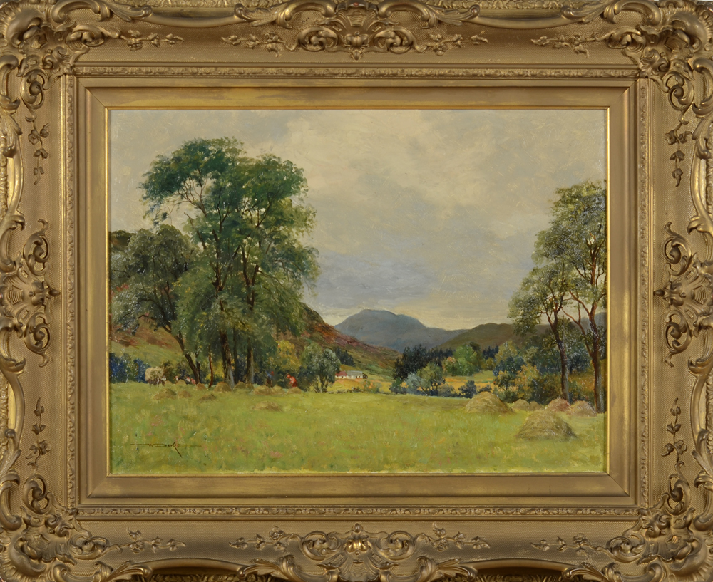 William Dicky — Scotish landscape, oil painting