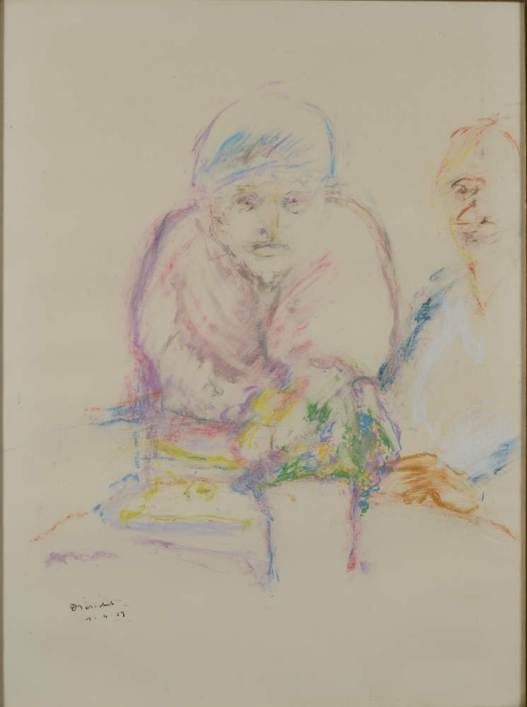 Karel Dierickx — A double portrait pastel drawing.