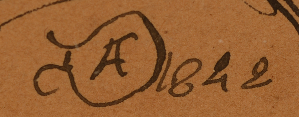 Adolphe Dillens Man with hat — Signature