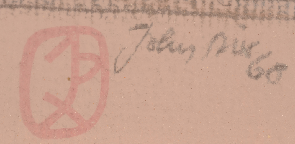John Dix  — Signature in pencil, date and monogram stamp bottom right
