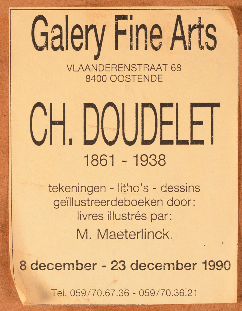 Charles Doudelet — <p>Label of an exhibition in 1990 on the back</p>