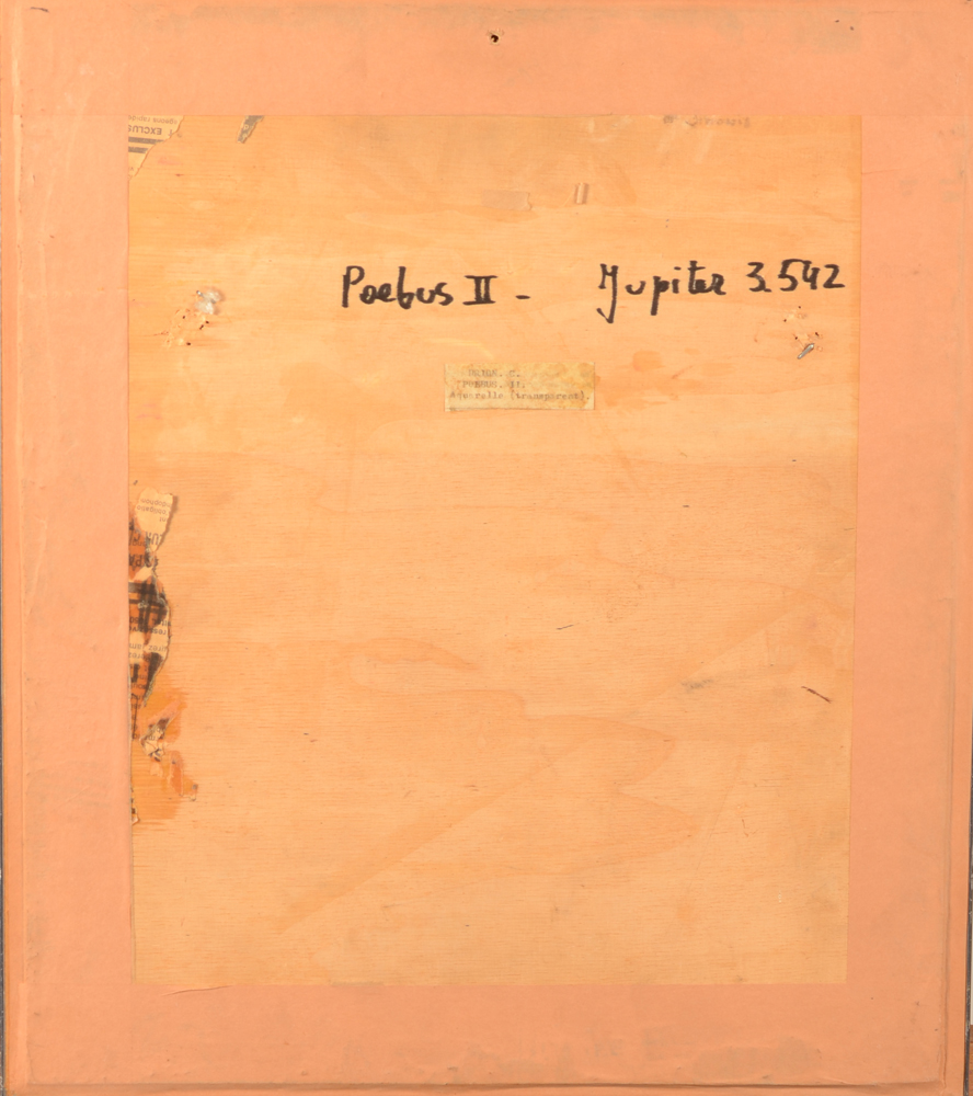 Colette Drion — Back of the work, with title