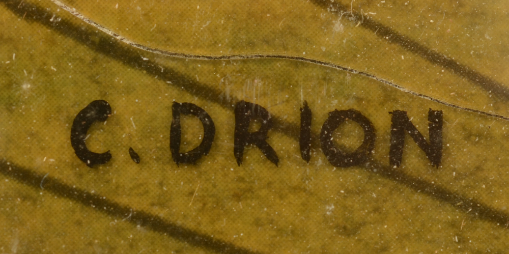 Colette Drion — Signature of the artist, bottom left