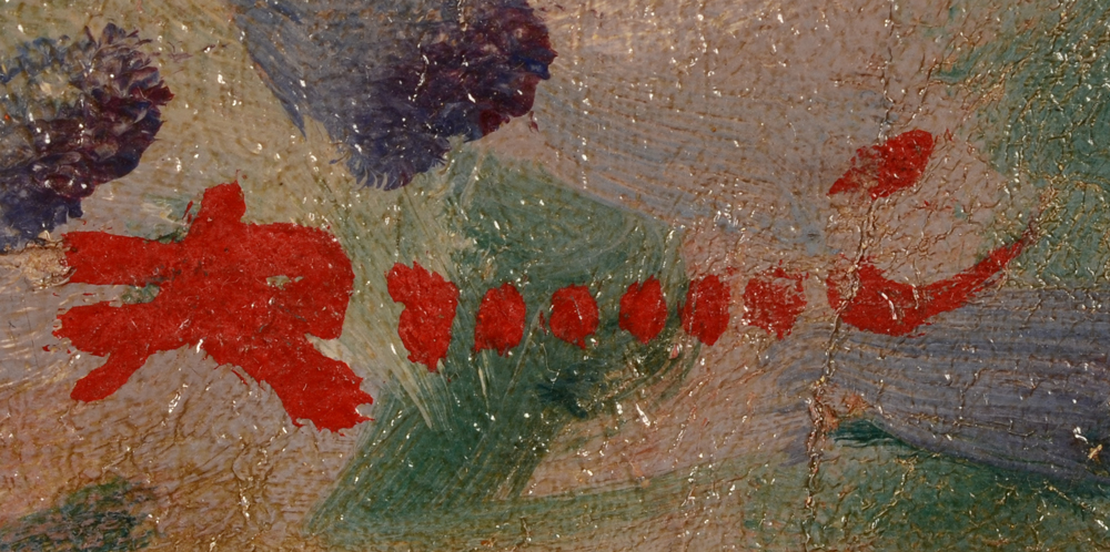 August Drume — Signature of the artist, bottom right