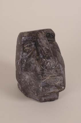 "1967-1970 — 'Head' sculpture, 15,5 x 16 x 11 cm, signed with incised monogram ""JM""."