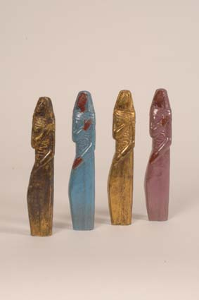 "1956-1958 — 4 Sculptures, each 19 x 3,5 x 2,5 cm, incised monogram ""JM""."