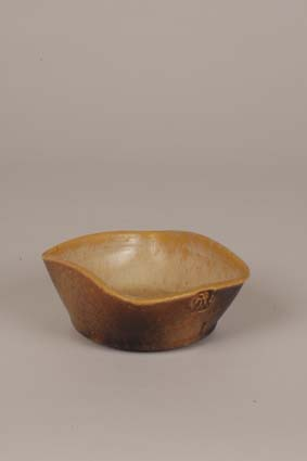 "1954-1955 — Bowl, 5,5 x 13 cm, impressed mark ""Joost Marechal"" (bottom) & impressed mark ""JM""."