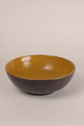 "1955 — Bowl, 10,5 x 30 cm, impressed mark ""Joost Marechal"" (bottom)"