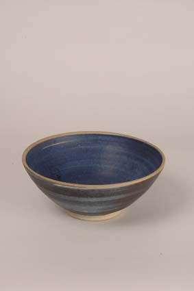 "1968-1969 — Bowl, 10,5 x 25,5 cm, signed ""Joost Maréchal"" (bottom) & impressed mark ""JM""."