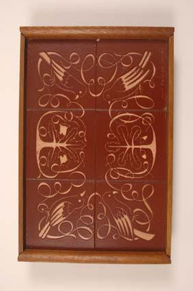 "1940-1941 — Tray, 49,5 x 32,5, signed ""Joost Maréchal Brugge"" on one of the tiles."