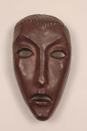 1954-1960 — Mask, 27 x 15 cm, unsigned.