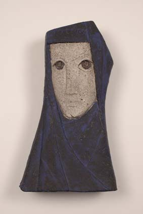 "1958-1960 — 'Woman with scarf', 37,5 x 21 cm, signed ""Joost Maréchal"" & ""JM"" (back)."
