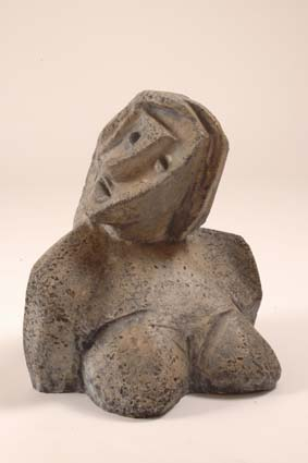 "1968-1970 — Bust, 40 cm, incised monogram ""JM""."