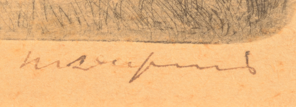 Maurice Dupuis — Signature of the artist in ink, bottom right
