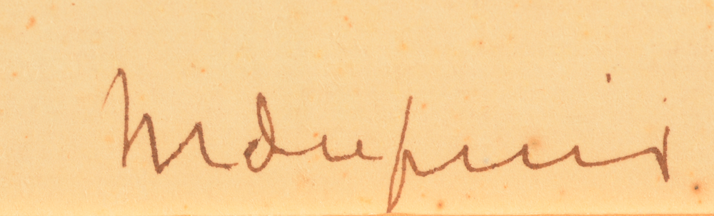Maurice Dupuis — Signature of the artist, bottom right