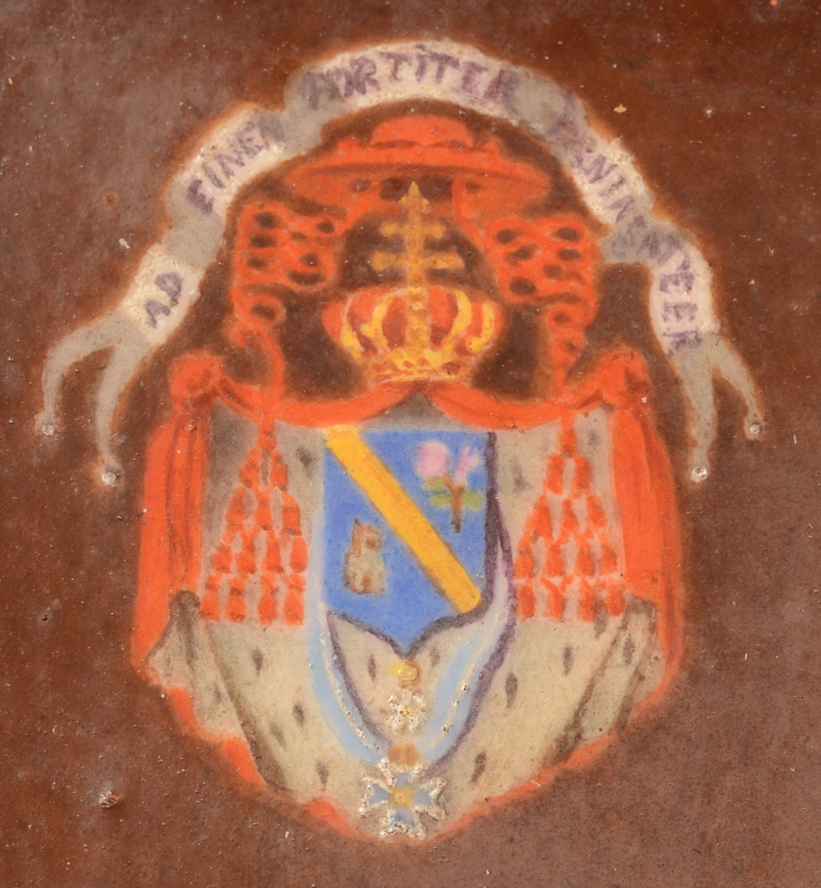 Marie Gallois-Durant — Detail of the arms of the cardinal, top left