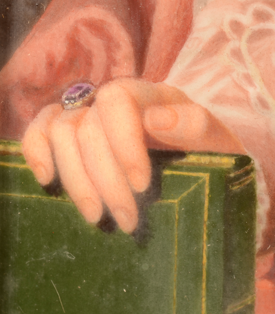 Marie Gallois-Durant — Detail of the hand resting on the book